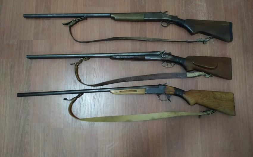 Dörd rayonda əməliyyat: 9 qanunsuz silah götürüldü