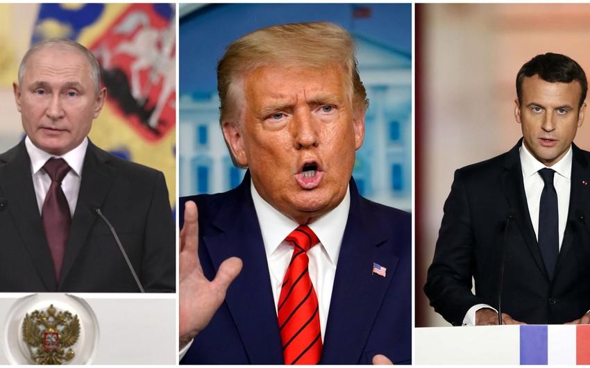 Putin, Tramp və Makron -