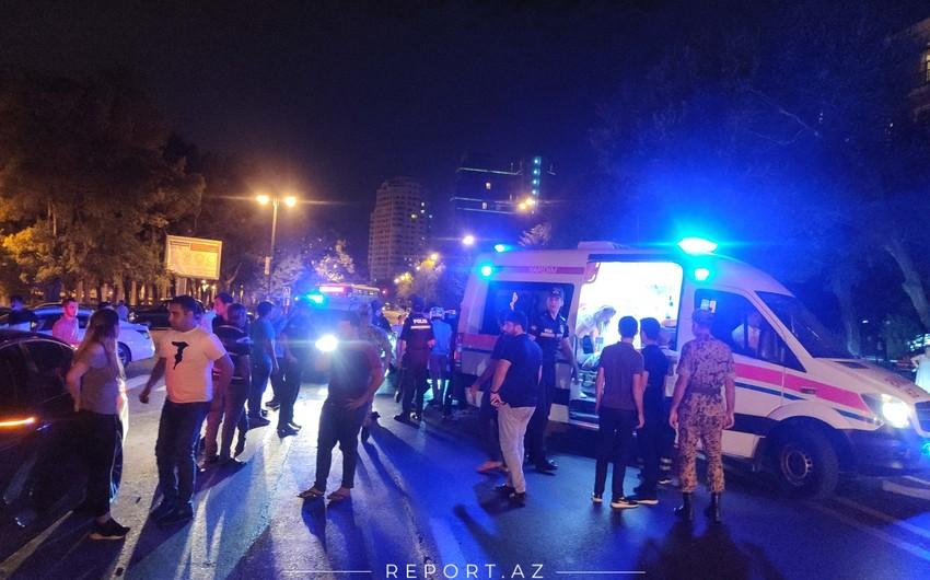 Nəsimi rayonunda avtomobil piyadanı vurdu