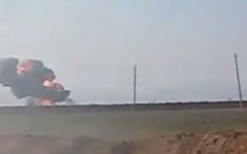 Azərbaycan Müdafiə Nazirliyi Ermənistan hərbi helikopterinin məhv edilməsi anının görüntülərini yayıb