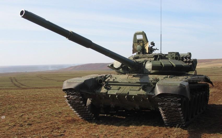 Dağlıq Qarabağdakı separatçı rejimin iki tankı minaya düşüb - VİDEO