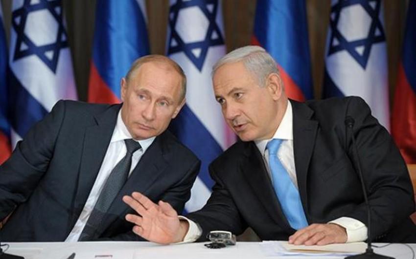 Netanyahu Putinə ölkəsinin İranın Suriya münaqişəsində iştirakına qarşı olduğunu bildirib