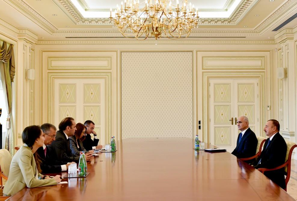 President Ilham Aliyev received a delegation led by the Deputy Prime Minister of Serbia