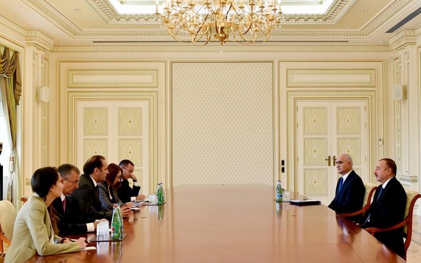 Prezident İlham Əliyev Serbiya baş nazirinin müavinini qəbul edib