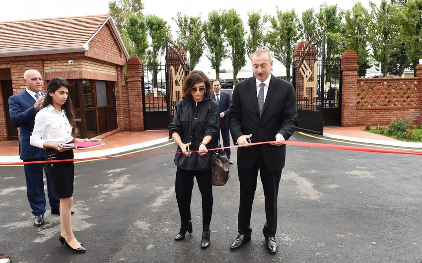 Президент Ильхам Алиев и первая леди приняли участие в открытии Лянкяранского филиала ОАО Азерхалча