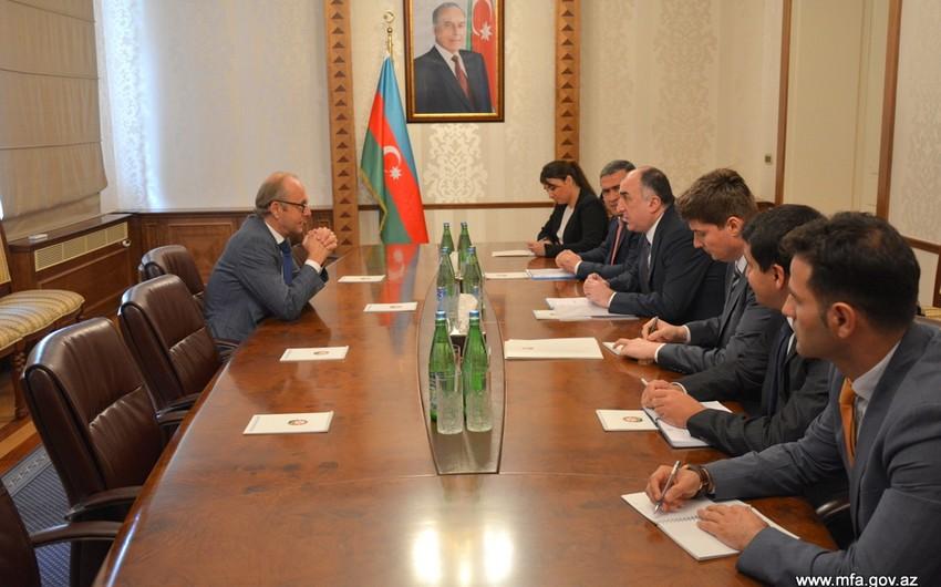 Azerbaijani Foreign Minister Elmar Mammadyarov receives Dutch Ambassador
