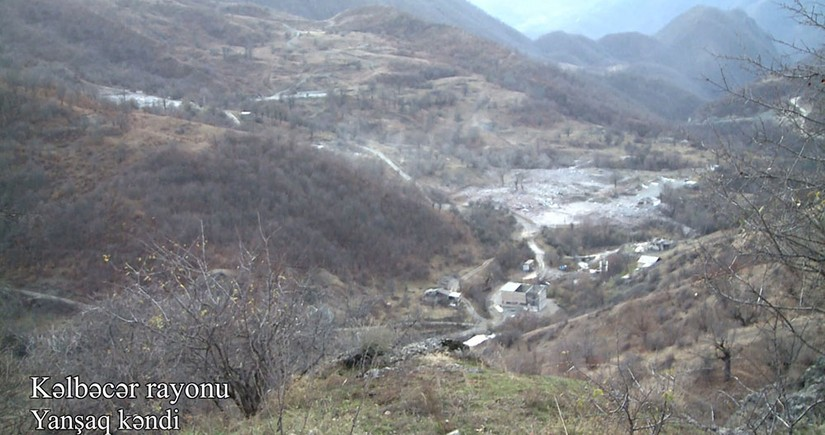Footage from Yanshag village of Kalbajar region