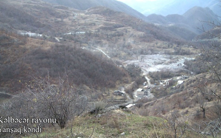 Kəlbəcərin Yanşaq kəndinin görüntüləri
