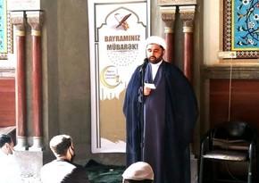 Gürcüstanda Ramazan bayramı namazları qılınıb