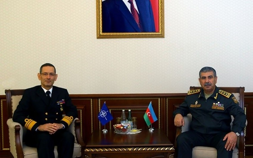 Zakir Hasanov meets with Head of Partnerships Directorate of NATO/SHAPE