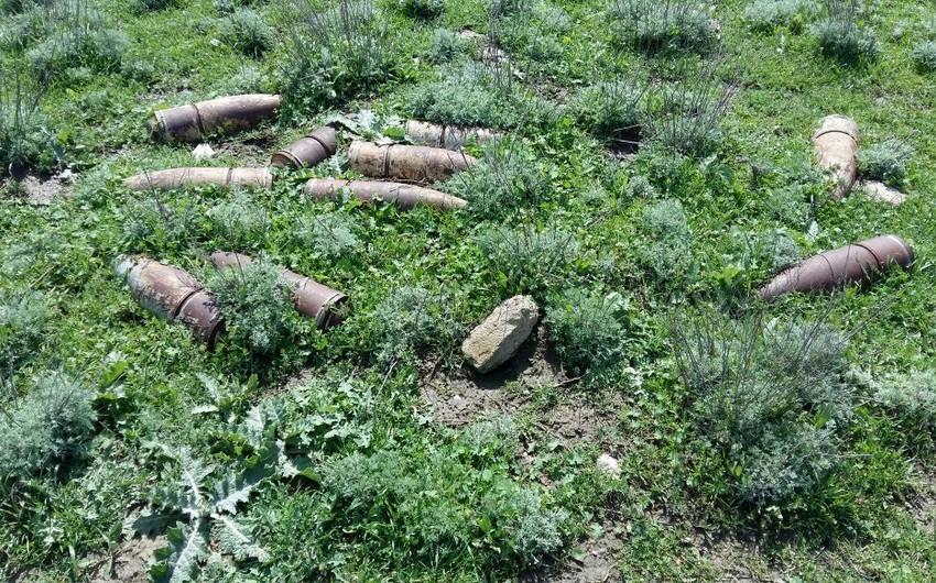 Ağstafada 26 ədəd partlamamış hərbi sursat tapılıb