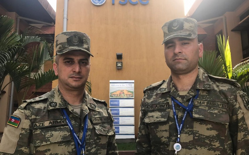 Azerbaijani peacekeepers started to serve in the peacekeeping mission in South Sudan