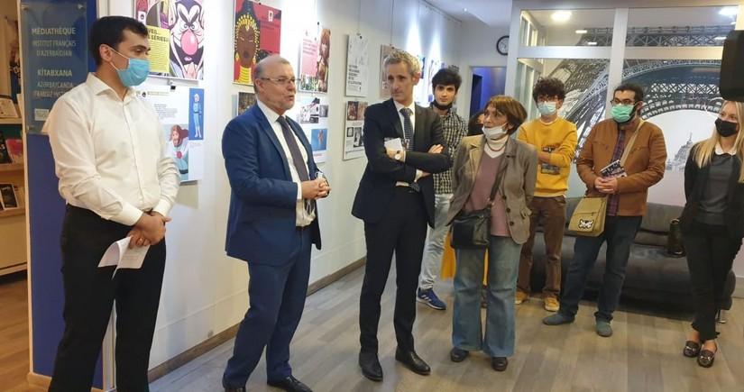 Французский институт вАзербайджане провелвыставку, отражающую 100-летнюю историю анимационных фильмов