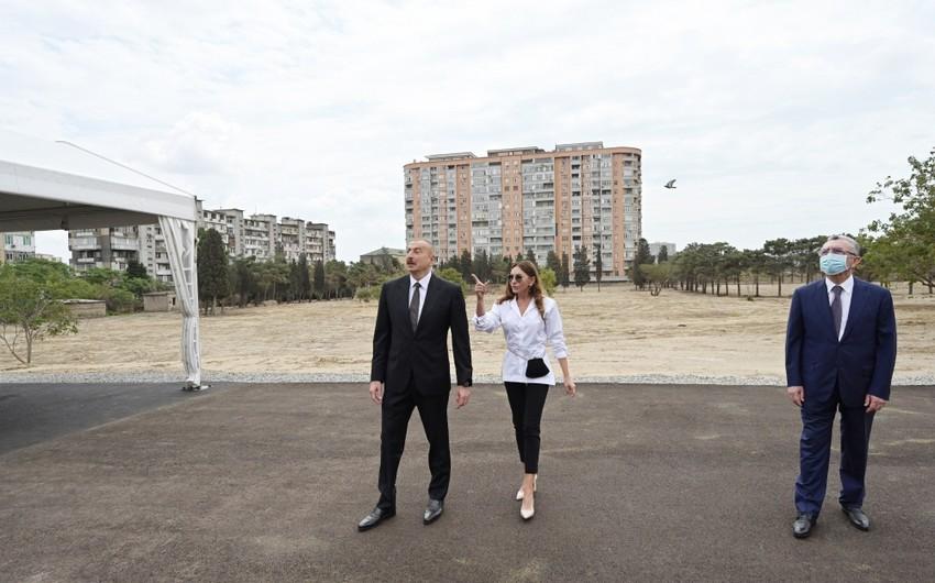 Prezident Bakıda qanunsuz zəbt olunan ərazinin satışının qarşısını alıb