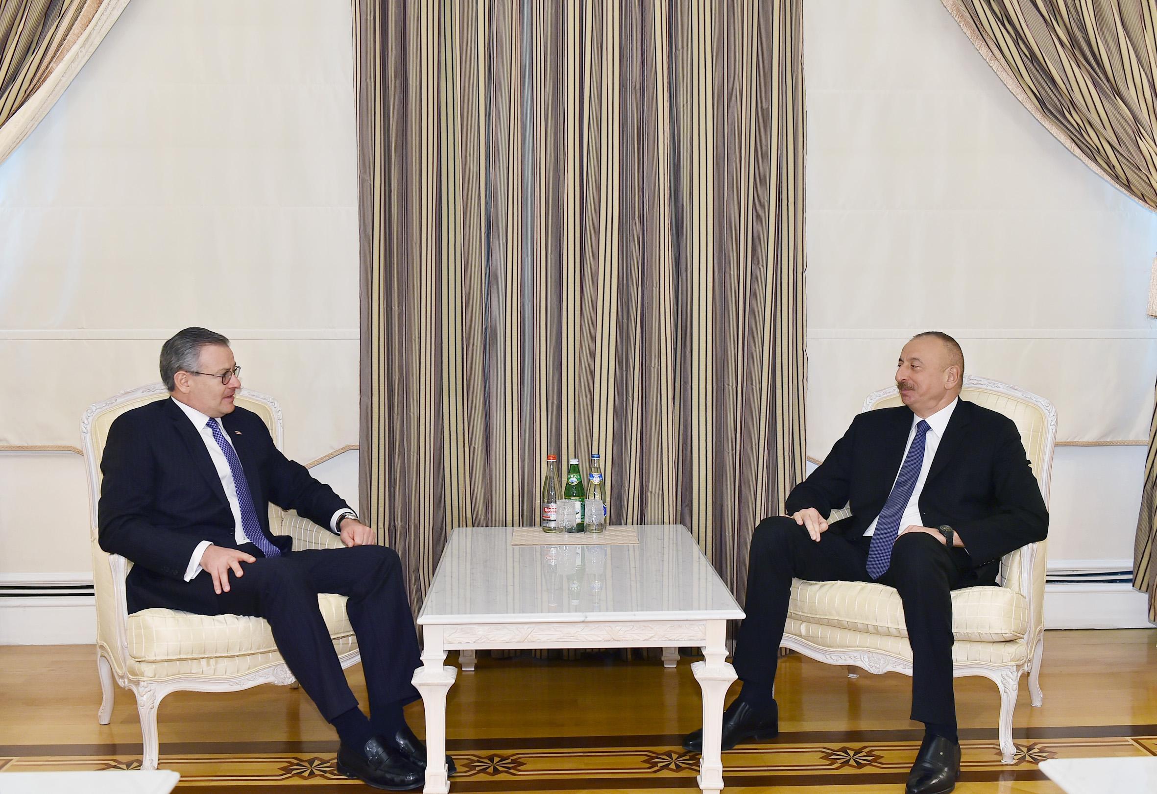 Президент Ильхам Алиев принял министра иностранных дел Республики Коста-Рика
