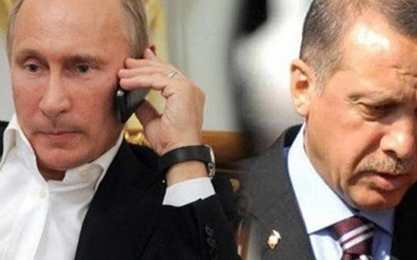 Rusiya və Türkiyə prezidentləri arasında telefon danışığı olub