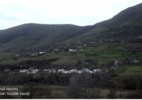 Footage from Yukhari Guzlak village of Fuzuli