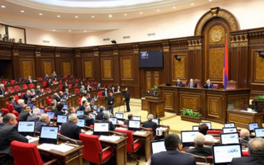 Ermənistan parlamenti Qarabağın müstəqilliyinin tanınması haqqında qanun layihəsinin müzakirəsini ertələyib