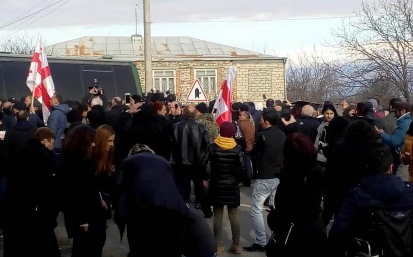 Gürcüstanda müxalifət və polis arasında qarşıdurma baş verib