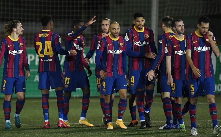 Barselona İspaniya Kubokunun 1/8 finalına çətinliklə yol açıb