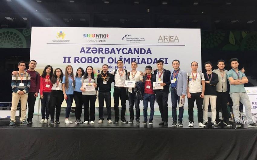 BANM-ın tələbələri Robot Olimpiadasında ilk üç yerin qalibi olublar