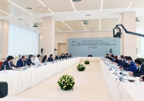 President Ilham Aliyev addressing conference at ADA University -  LIVE