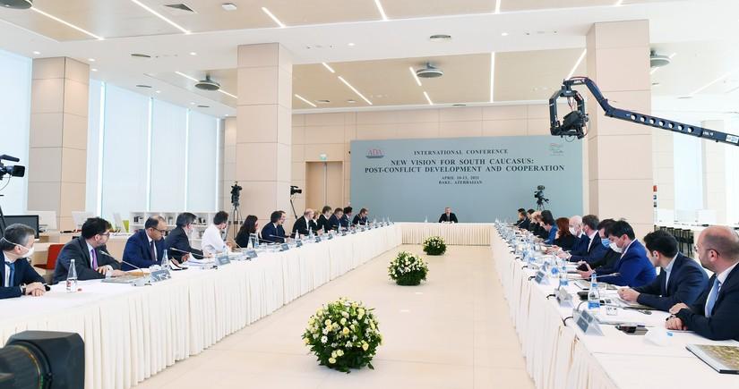 Prezident İlham Əliyev ADA Universitetində keçirilən beynəlxalq konfransda çıxış edib - VİDEO