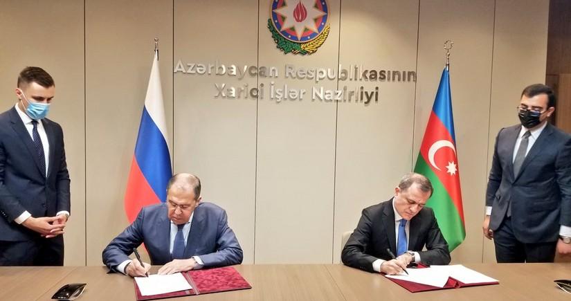 Azərbaycan və Rusiya XİN-ləri arasında 2021-2022-ci illər üçün məsləhətləşmələr Planıimzalanıb