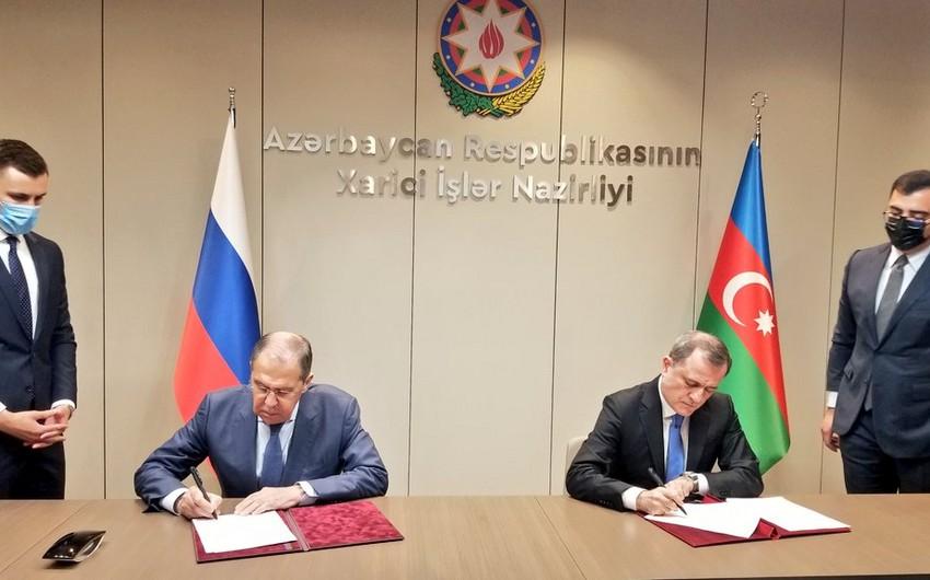 МИД Азербайджана и России подписали План консультаций на 2021-2022 годы