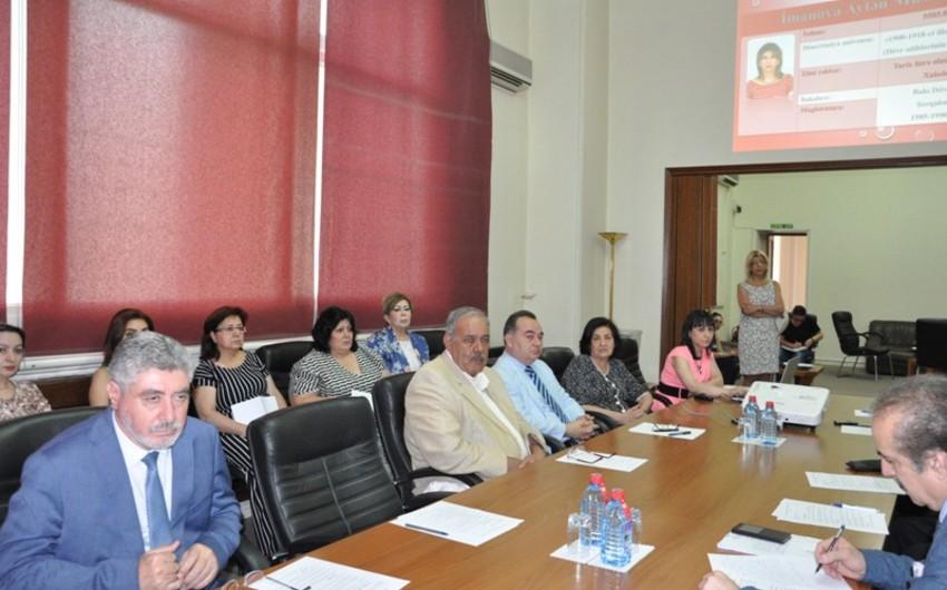 AMEA-nın Humanitar Elmlər Bölməsinin Ümumi yığıncağı keçirilib