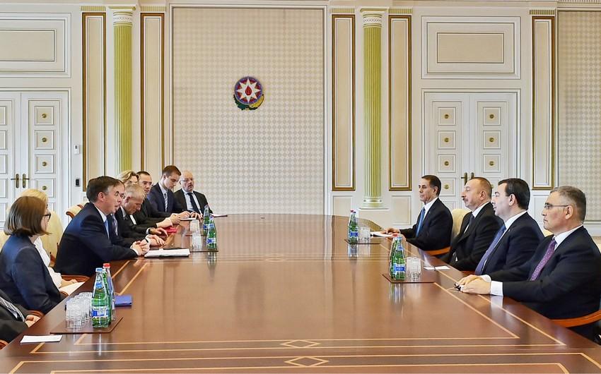 Prezident İlham Əliyev Avropa Parlamentinin nümayəndə heyətini qəbul edib - YENİLƏNİB