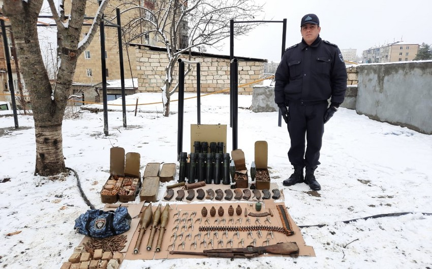 Weapons abandoned by Armenians during Patriotic War found in Shusha