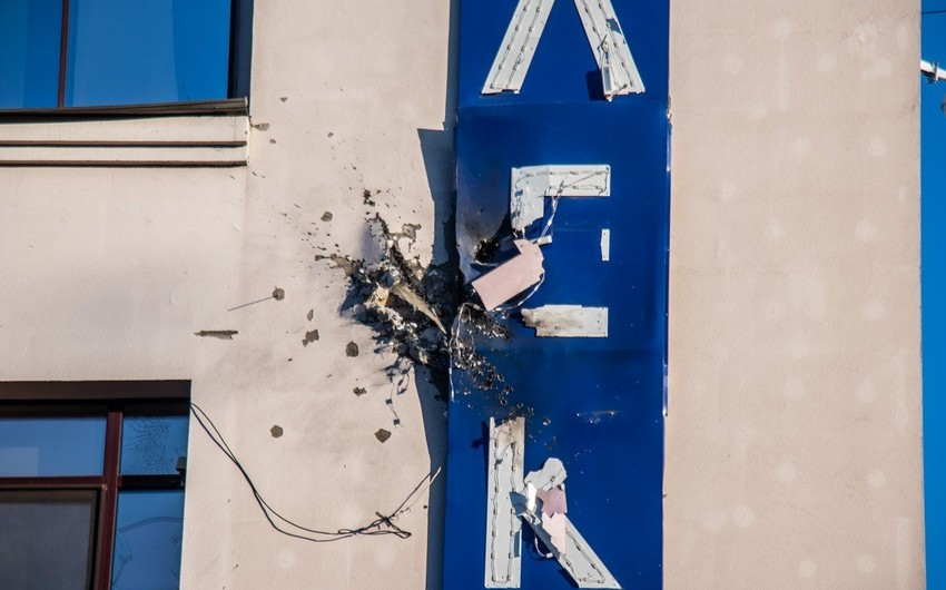Building of TV channel was shot from grenade launcher - VIDEO