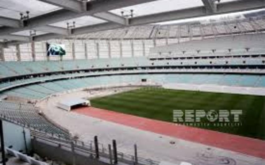 Bakı Olimpiya Stadionunda İtaliya milli komandasının kubokları nümayiş olunub - FOTO