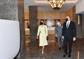 President Ilham Aliyev attends opening of Courtyard by Marriott Baku hotel