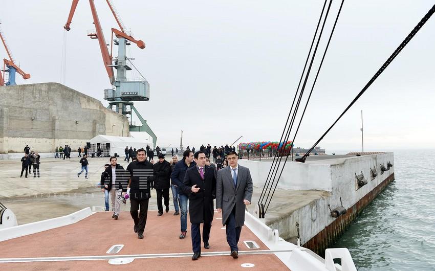 """Berkarar"", first ferry of Turkmenistan arrived in Baku International Sea Trade Port"