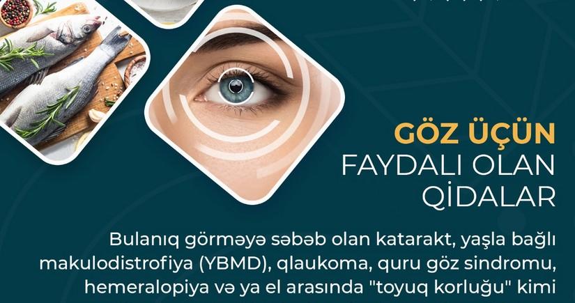 Göz üçün faydalı olan qidalar - MƏQALƏ