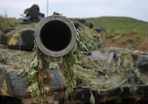 Armenian military equipment, trucks wrecked