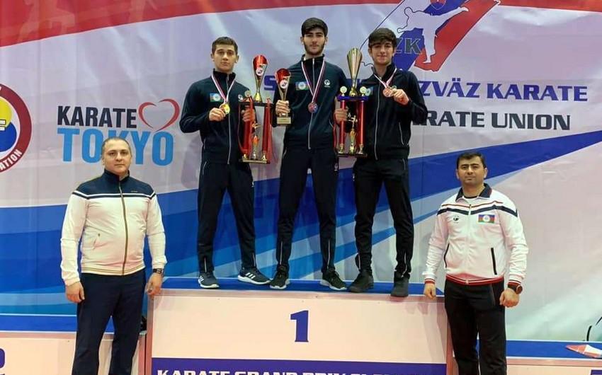 Azərbaycan karateçilərindən 2 qızıl, 1 gümüş medal