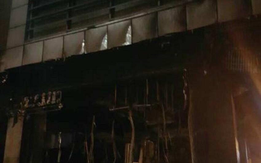 Rusiya bankının Ukraynadakı şöbəsində yanğın olub - VİDEO