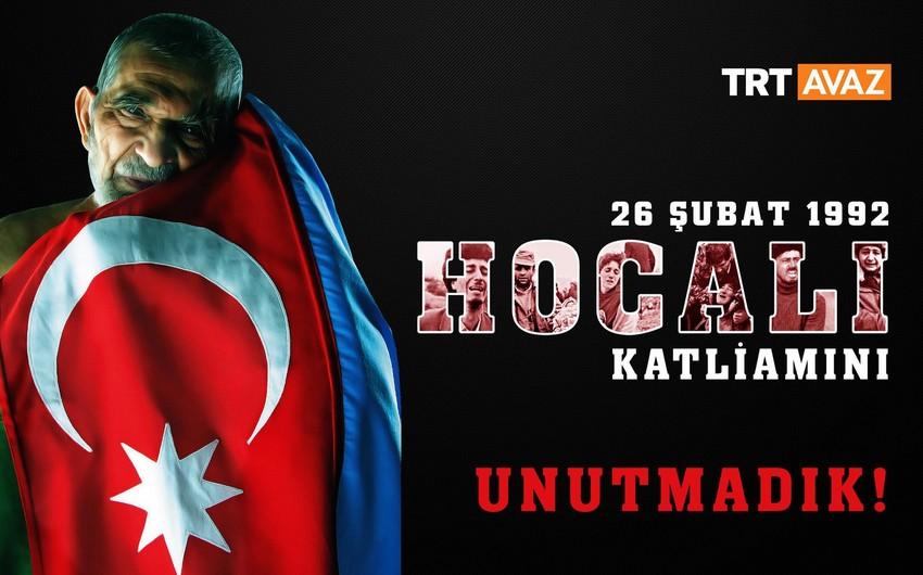 TRT Xocalı soyqırımı ilə bağlı anım həftəsinə start verib