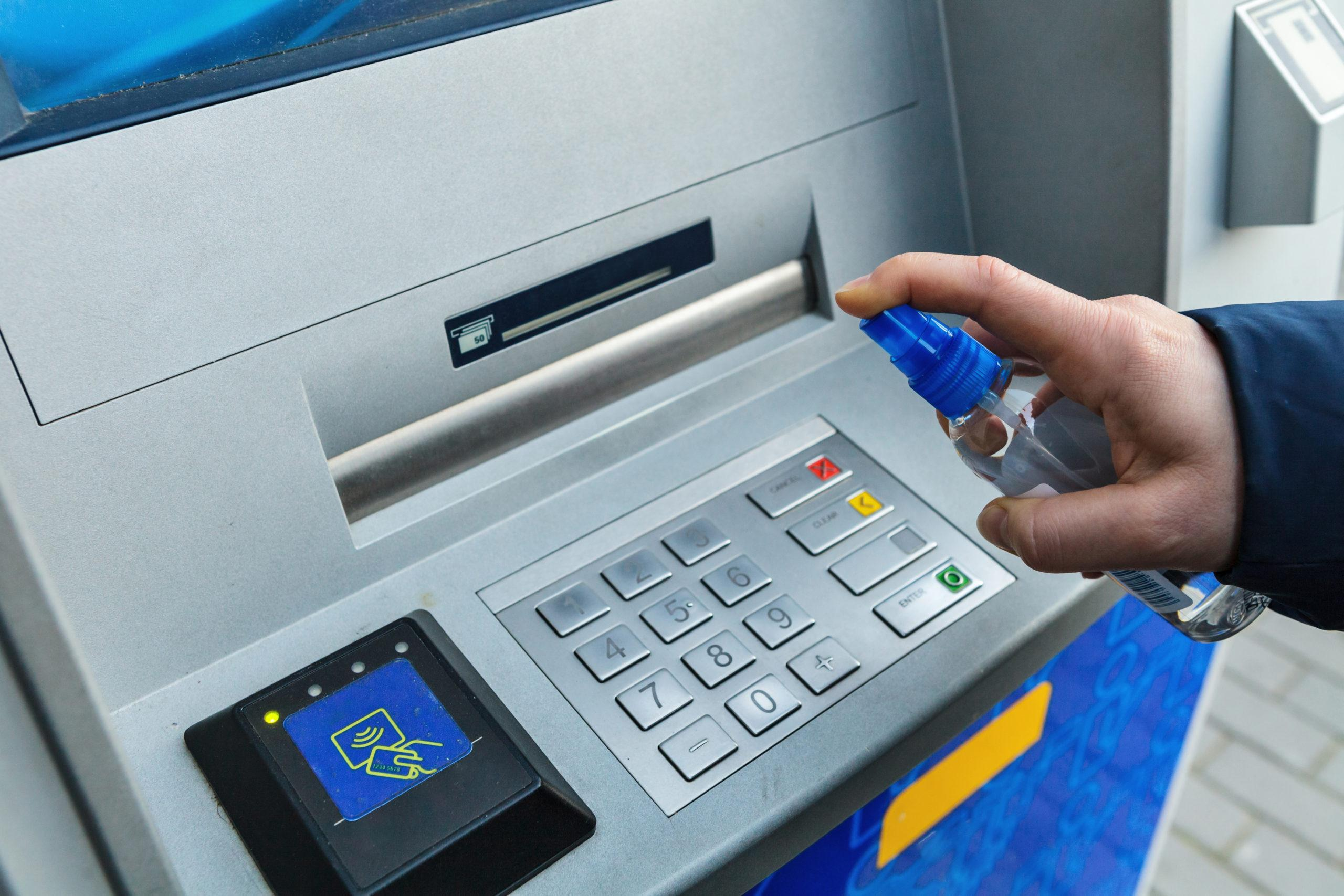 Safety measures in Baku: Disinfectors installed in ATM's