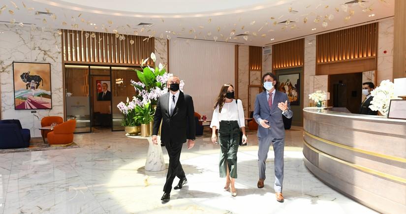 President Ilham Aliyev attends inauguration of Intercontinental hotel