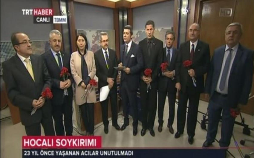 Türkiyə-Azərbaycan parlamentlərarası dostluq qrupu canlı yayımda Xocalı soyqırımına etiraz edib