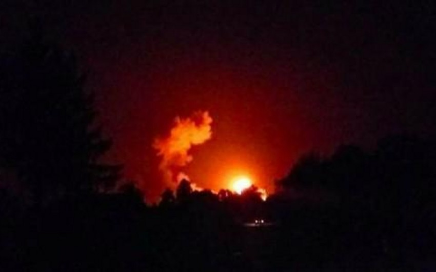 Ukraynada yanan hərbi anbarlarda 88 min tona yaxın sursat var