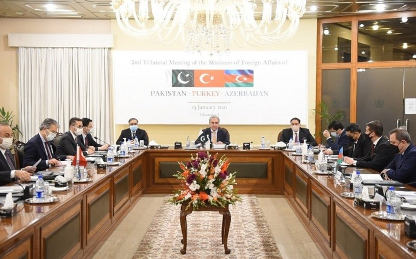 Azərbaycan, Türkiyə və Pakistan XİN başçılarının görüşü hər il keçiriləcək