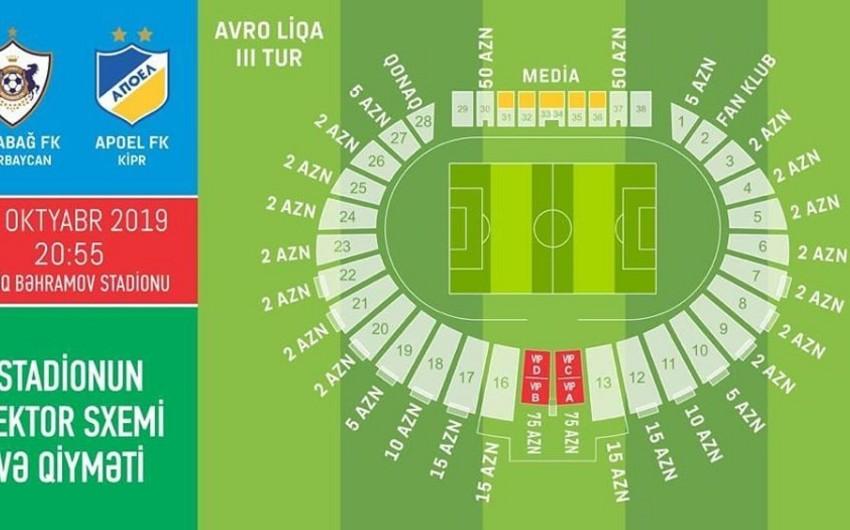 Qarabağ - APOEL matçına 25 min bilet satılıb