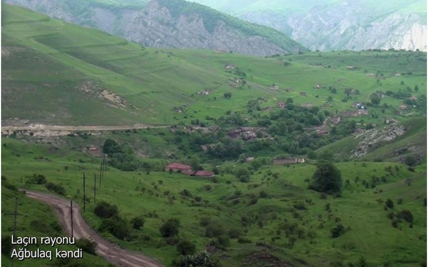 Laçının Ağbulaq kəndindən görüntülər -