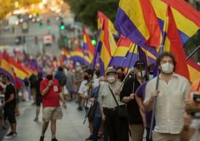 В центре Мадрида прошла акция протеста против монархии