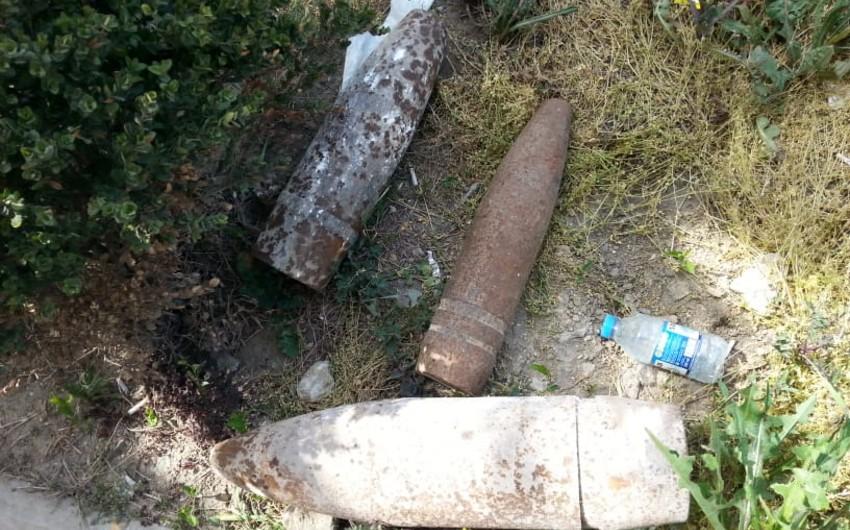 Bakıda polis bölməsinin ərazisində üç top mərmisi tapılıb